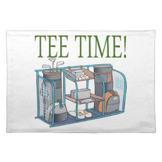 Tiempo de la camiseta manteles individuales