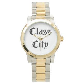 Tiempo de la ciudad de la clase reloj