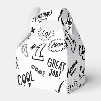 Tiempo de la escuela cajas para regalos de boda