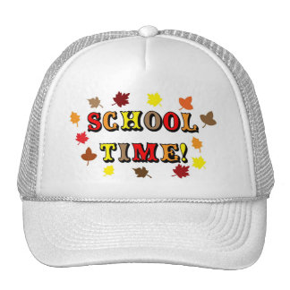 Tiempo de la escuela gorras