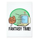 Tiempo de la fantasía invitación 12,7 x 17,8 cm