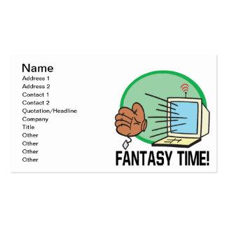 Tiempo de la fantasía plantilla de tarjeta de negocio