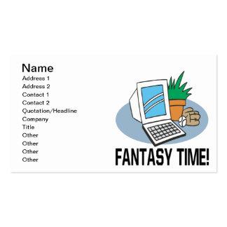 Tiempo de la fantasía plantilla de tarjeta personal