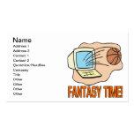 Tiempo de la fantasía tarjeta de negocio