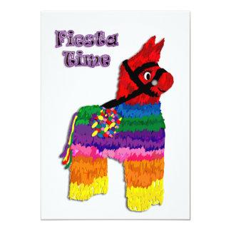 Tiempo de la fiesta del Pinata del caballo Invitación 12,7 X 17,8 Cm