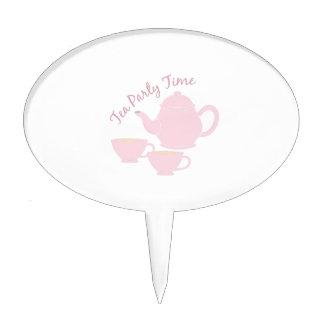 Tiempo de la fiesta del té figuras para tartas