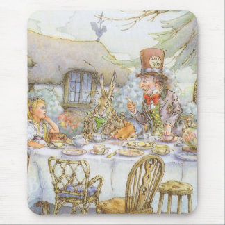 Tiempo de la fiesta del té tapetes de raton