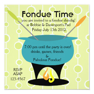 """¡Tiempo de la """"fondue""""! Invitación Personalizada"""