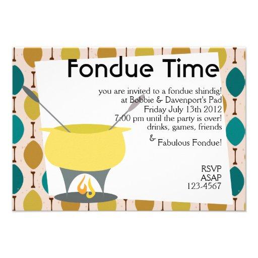 """¡Tiempo de la """"fondue""""! Comunicado Personalizado"""