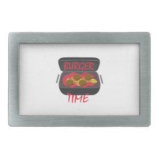 Tiempo de la hamburguesa hebilla cinturon rectangular