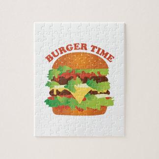 Tiempo de la hamburguesa rompecabezas con fotos