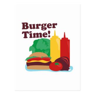 ¡Tiempo de la hamburguesa! Postales