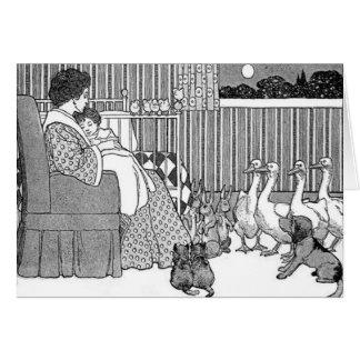 Tiempo de la historia de la madre y del niño en tarjeta de felicitación
