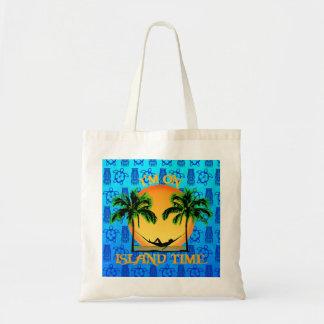 Tiempo de la isla bolsa tela barata