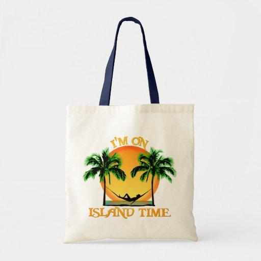 Tiempo de la isla bolsas lienzo