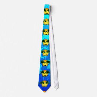 Tiempo de la isla corbata personalizada