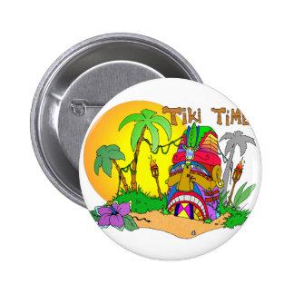 TIEMPO de la isla de TIKI Pin Redondo De 2 Pulgadas