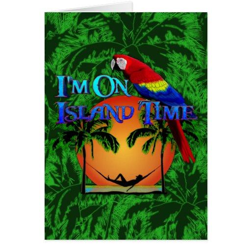 Tiempo de la isla en hamaca