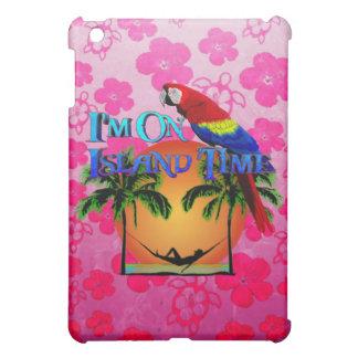 Tiempo de la isla en hamaca iPad mini protectores