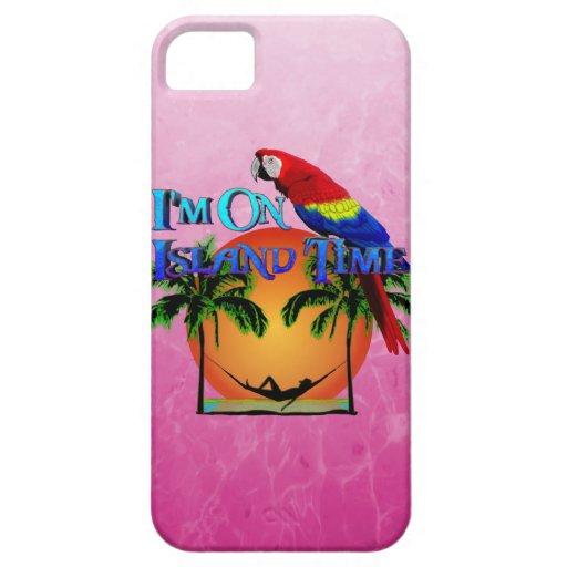 Tiempo de la isla en hamaca iPhone 5 carcasas