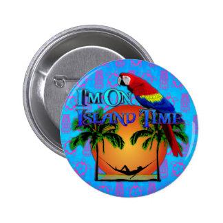Tiempo de la isla en hamaca pin redondo de 2 pulgadas