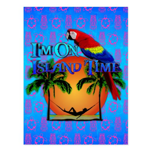 Tiempo de la isla en hamaca postal