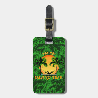 Tiempo de la isla etiqueta para equipaje