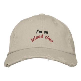 Tiempo de la isla gorras de beisbol bordadas