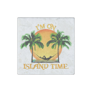 Tiempo de la isla imán de piedra