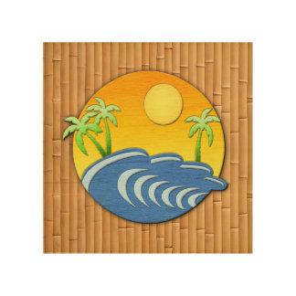 Tiempo de la isla cuadros de madera