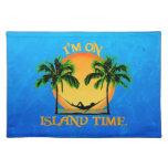 Tiempo de la isla mantel individual