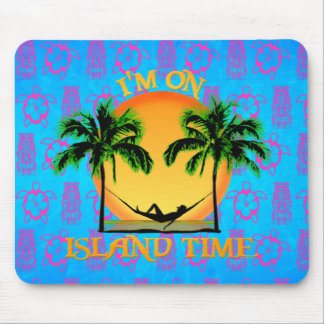 Tiempo de la isla mouse pad