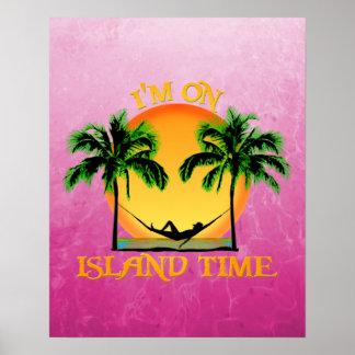 Tiempo de la isla póster