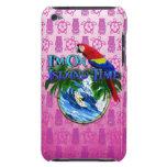 Tiempo de la isla que practica surf Tiki rosado Case-Mate iPod Touch Carcasa