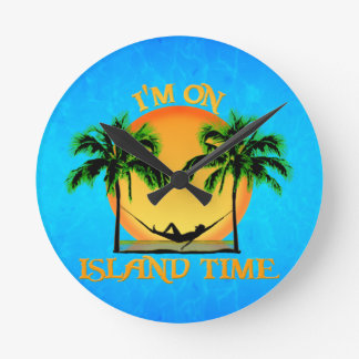 Tiempo de la isla reloj redondo mediano