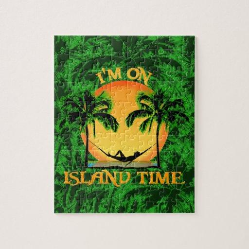 Tiempo de la isla rompecabeza con fotos