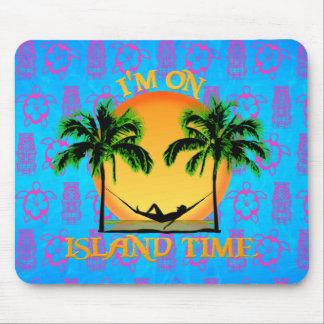 Tiempo de la isla tapetes de raton
