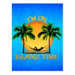 Tiempo de la isla tarjeta postal