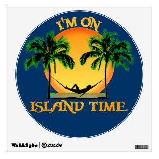 Tiempo de la isla vinilo adhesivo