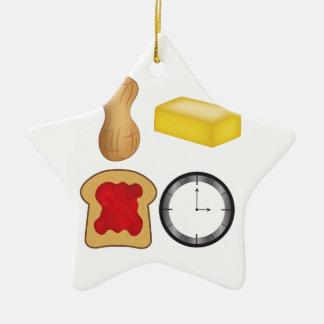 ¡Tiempo de la jalea de la mantequilla de Adorno Navideño De Cerámica En Forma De Estrella