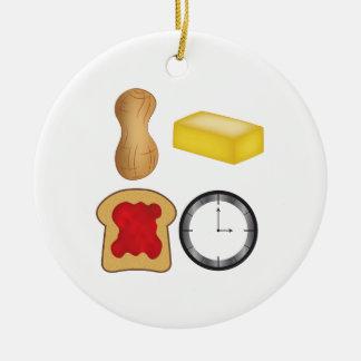 ¡Tiempo de la jalea de la mantequilla de Adorno Navideño Redondo De Cerámica