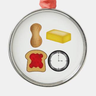¡Tiempo de la jalea de la mantequilla de Adorno Navideño Redondo De Metal