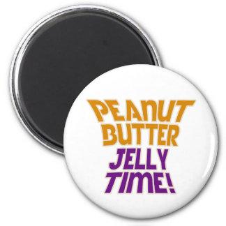 Tiempo de la jalea de la mantequilla de cacahuete iman de frigorífico