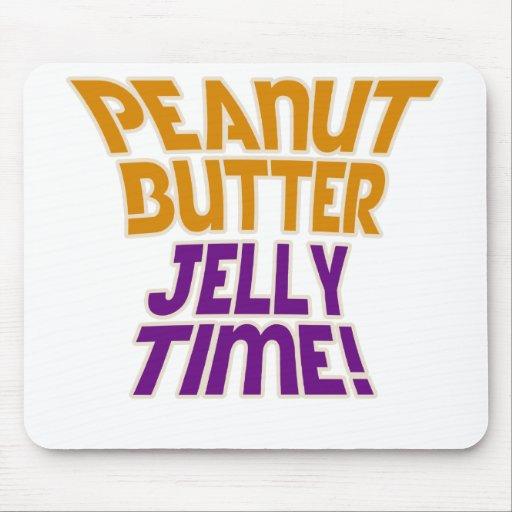 Tiempo de la jalea de la mantequilla de cacahuete mouse pads