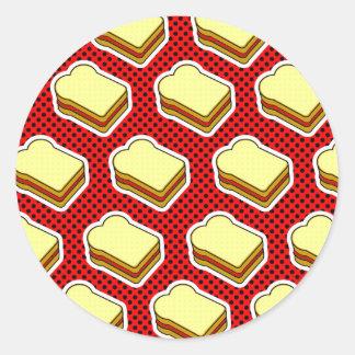Tiempo de la jalea de la mantequilla de cacahuete etiquetas redondas