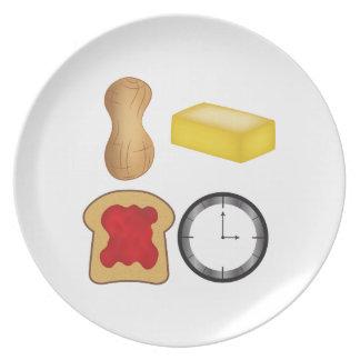 ¡Tiempo de la jalea de la mantequilla de cacahuete Platos