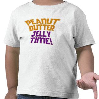 Tiempo de la jalea de la mantequilla de cacahuete camiseta
