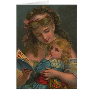 Tiempo de la lectura del Victorian Tarjetón