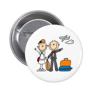 Tiempo de la luna de miel para el botón de novia y pin redondo de 2 pulgadas