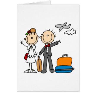 Tiempo de la luna de miel para la tarjeta de novia